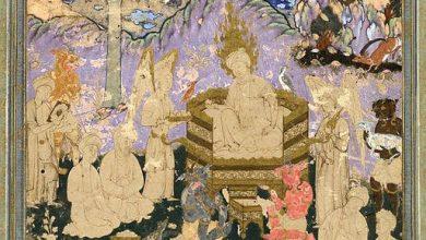 تصویر از می در پیاله – دیدم به خواب خوش که به دستم پیاله بود – غزل ۲۱۴ – ۱۹۴