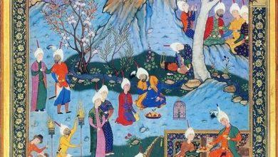 تصویر از حدیث آرزومندی – به مژگان سیه کردی هزاران رخنه در دینم – غزل ۳۵۴ -۳۷۱